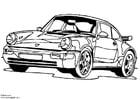 Dibujo para colorear Porsche 911 Turbo