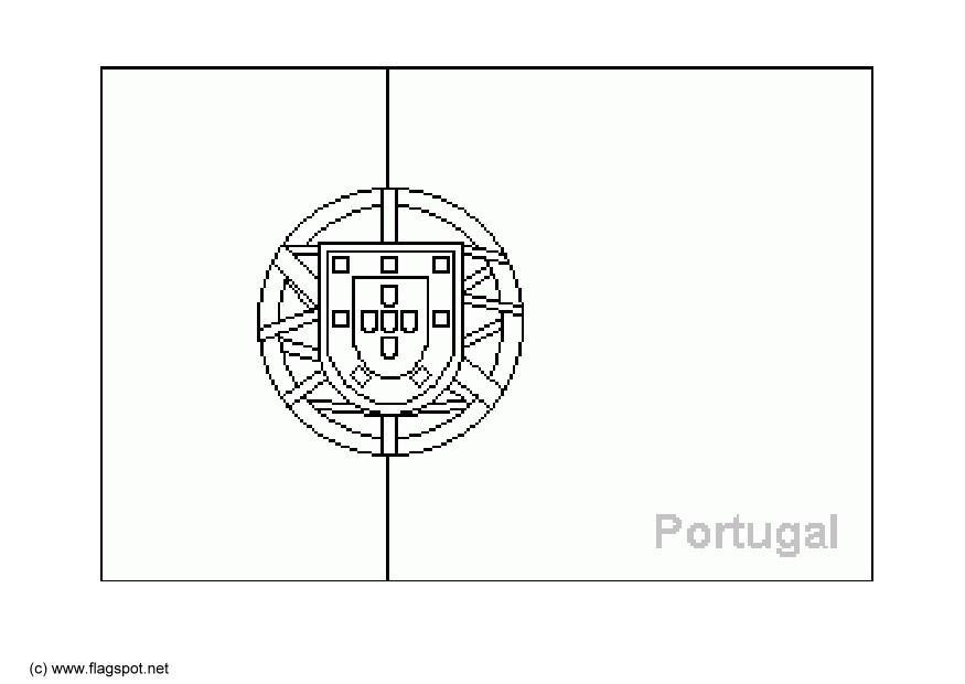 Dibujo para colorear portugal img 6381 for Albanian flag coloring page