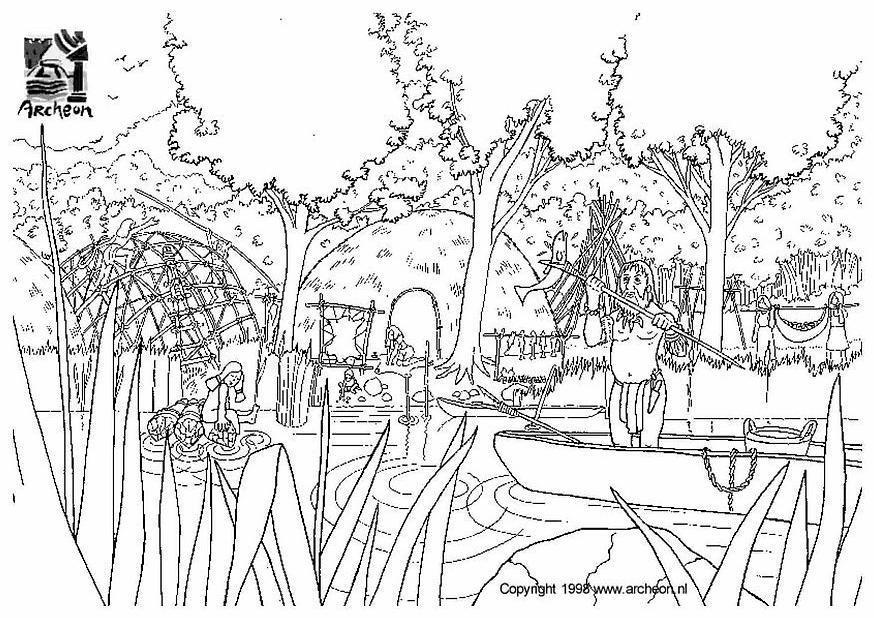 Kleurplaat Dieren Dorp Dibujo Para Colorear Prehistoria Img 3201 Images