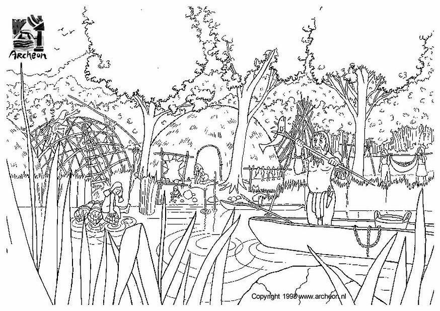 dibujo para colorear prehistoria img 3201