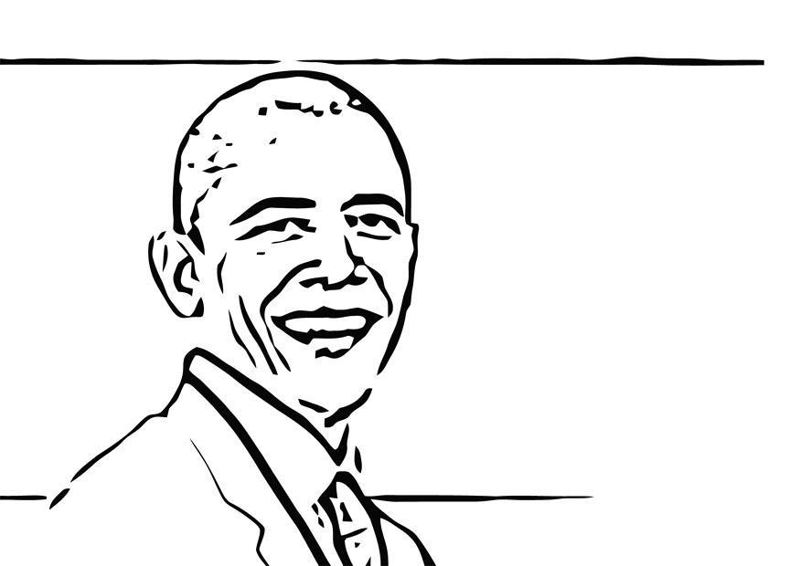 Dibujo Para Colorear Barack Obama Img 12689