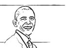 Dibujo para colorear Barack Obama