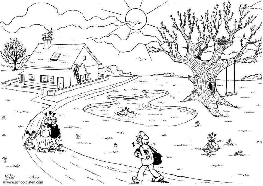 Dibujo para colorear primavera img 4558 for Immagini del piano casa gratis