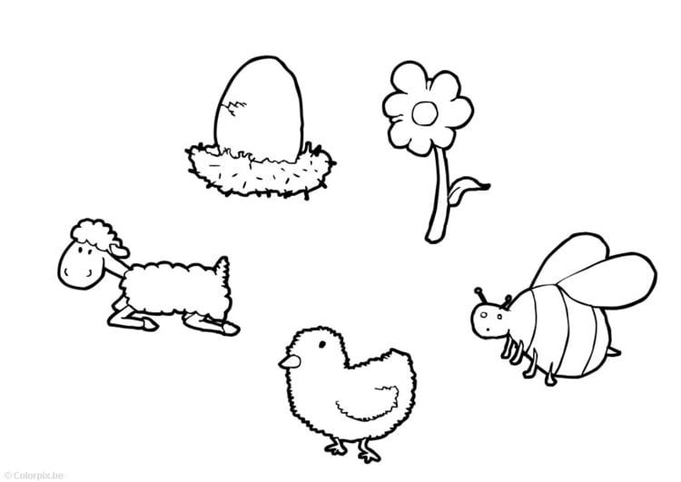Dibujo para colorear Primavera - Img 14741