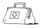 Dibujo para colorear Primeros auxilios - maletin del médico