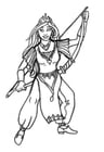 Dibujo para colorear Princesa arquera