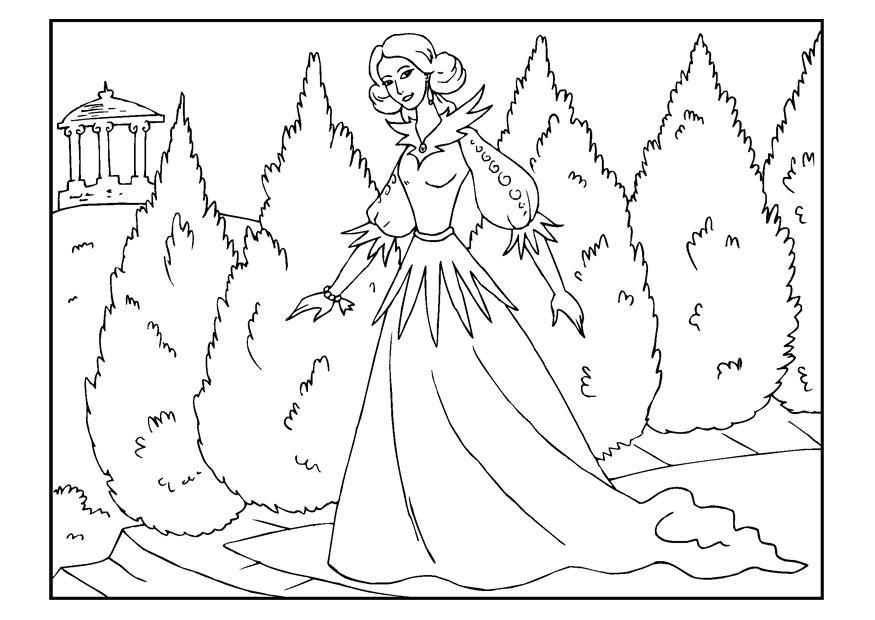Dibujo Para Colorear Princesa Dibujos Para Imprimir Gratis