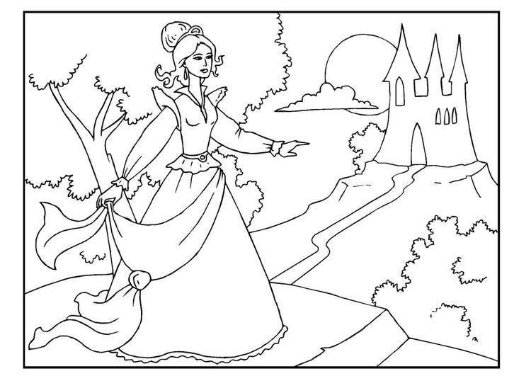 Afbeeldingen Kleurplaten Prinsessen Dibujo Para Colorear Princesa Img 22652 Images