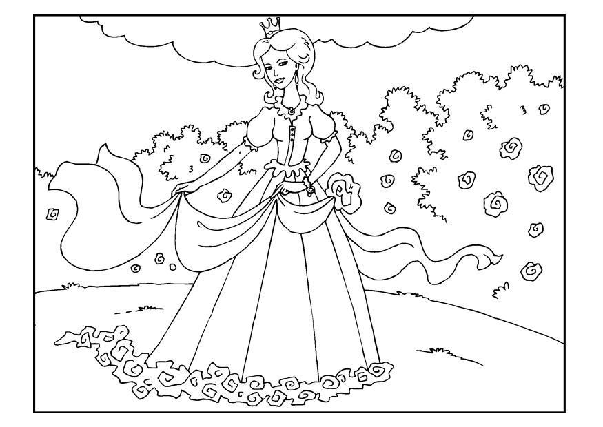 Dibujo Para Colorear Princesa En El Jard 237 N Img 22650