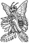 Dibujo para colorear Princesa mariposa