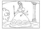 Dibujo para colorear princesa