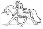 Dibujo para colorear Princesa Shamrock en unicornio