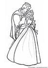 Dibujo para colorear Príncipe y princesa