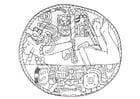 Dibujo para colorear prisionero maya