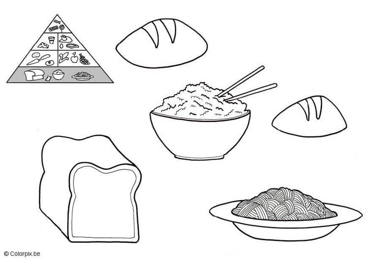 Dibujo Del Grano De Trigo: Dibujo Para Colorear Productos Del Grano
