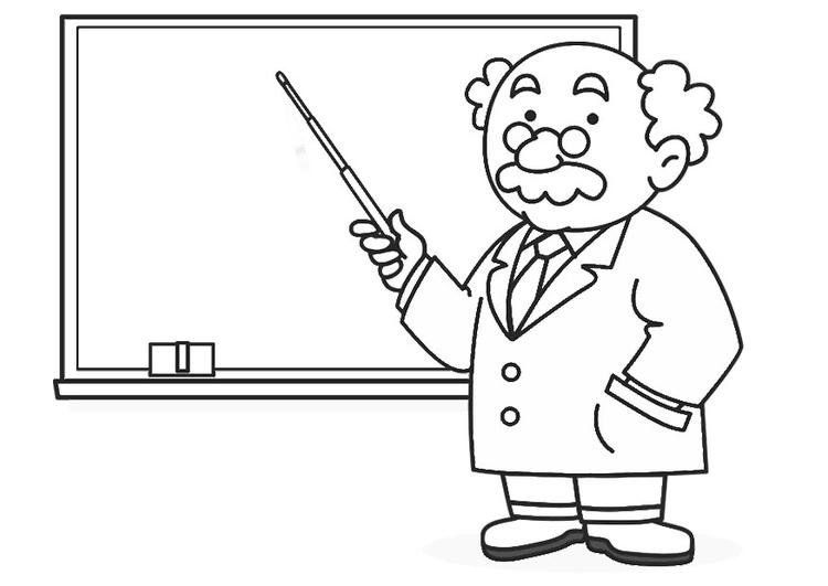 Dibujo para colorear profesor   Img 30237