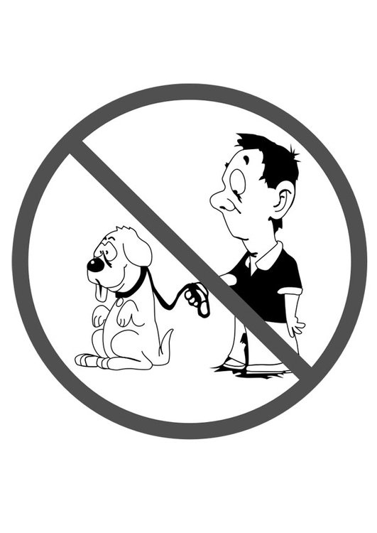 Dibujo Para Colorear Prohibido Perros Img 29294
