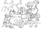 Dibujo para colorear proteger las vacas