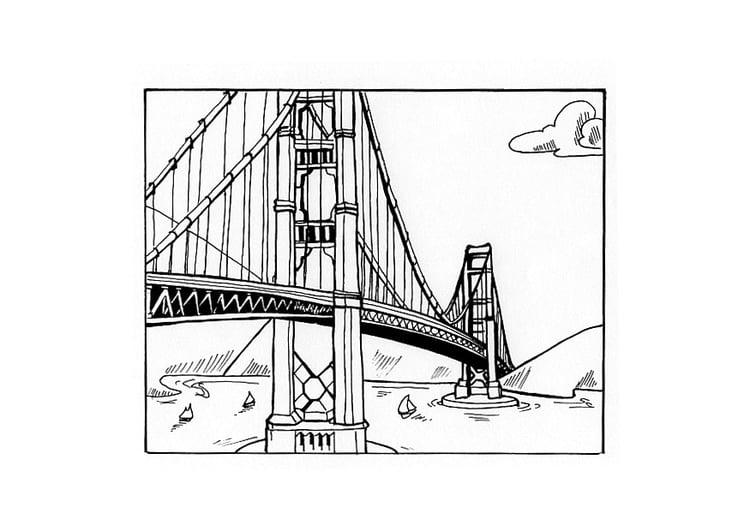 Dibujo para colorear Puente - Img 10442