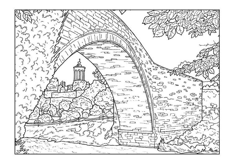 Dibujo para colorear Puente - Img 9891