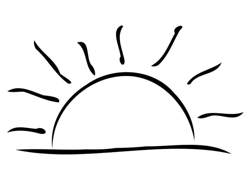 Dibujos Del Sol Para Colorear E Imprimir: Dibujo Para Colorear Puesta De Sol