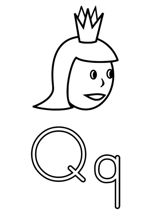Dibujo para colorear q - Img 22492