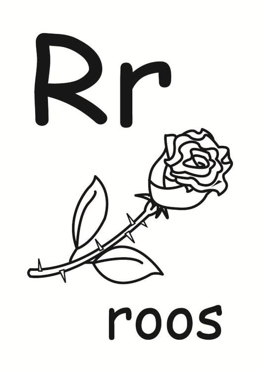 Dibujo para colorear r - Dibujos Para Imprimir Gratis ...
