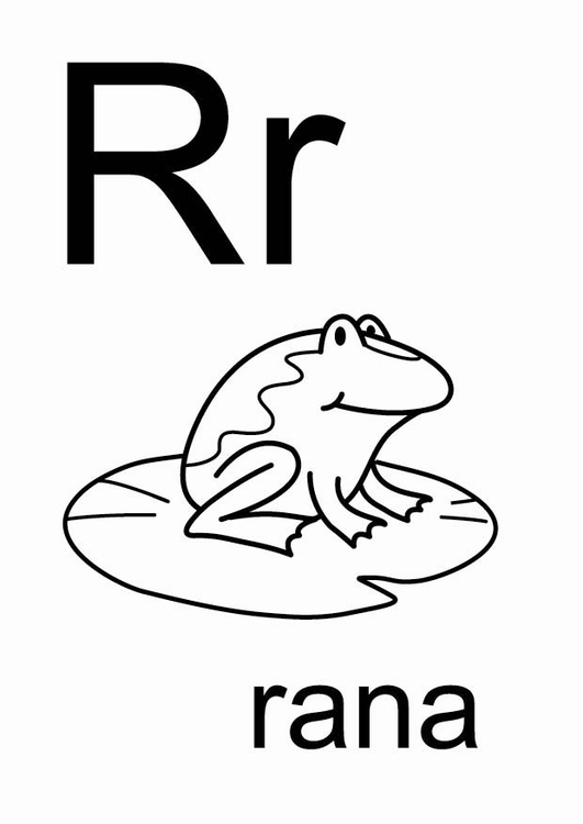 Dibujo para colorear r - Dibujos Para Imprimir Gratis