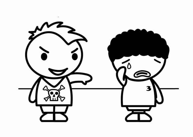 Imagenes De Niños Acostados Para Colorear: Dibujo Para Colorear Racismo