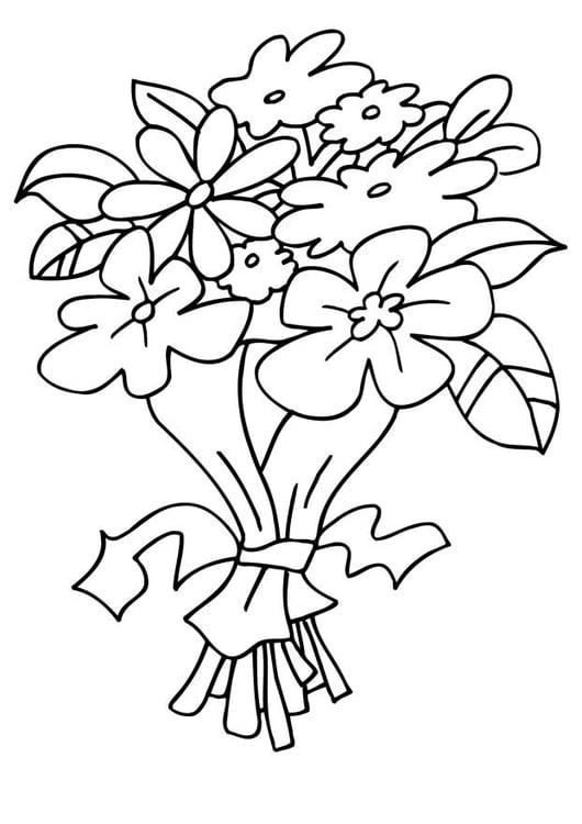 Dibujo para colorear Ramo de flores - Img 6483