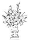 Dibujo para colorear ramo de lirios