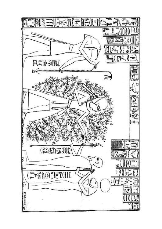 Dibujo para colorear Ramses y el árbol de la vida - Img 27051