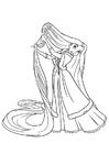 Dibujo para colorear Rapuncel