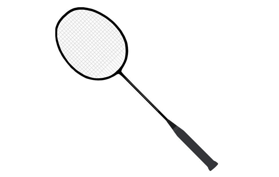 Dibujo para colorear raqueta de badminton img 22712 - Dessin raquette ...