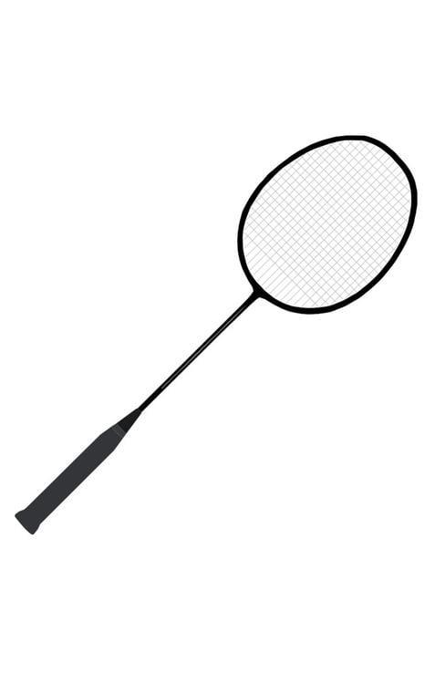 Dibujo para colorear raqueta de badminton img 22712 - Raquette dessin ...