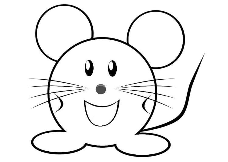 dibujo para colorear ratón img 29312