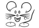 Dibujo para colorear ratón