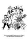 Dibujos para colorear Reciclaje de residuos