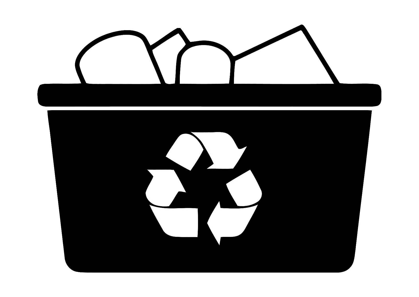 Dibujo para colorear reciclar img 11351 images - Papel para dibujar ...