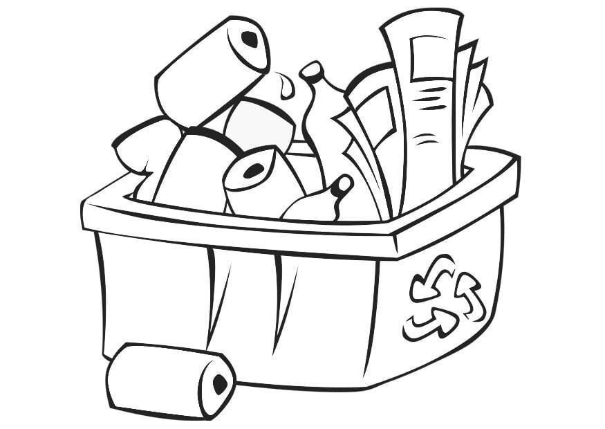 Dibujo Para Colorear Reciclar