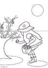 Dibujo para colorear Recoger huevos de chocolate