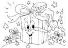 Dibujo para colorear regalos