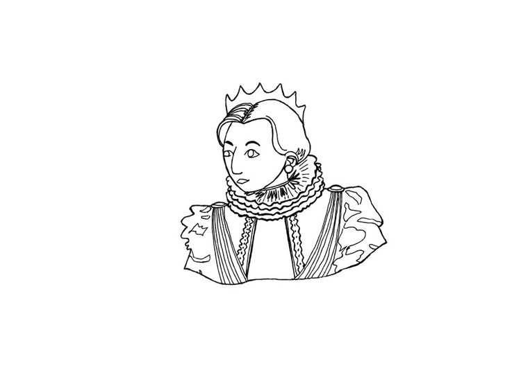 Dibujo para colorear Reina - Img 13720