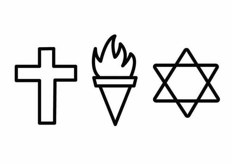Dibujo para colorear religión - ética - Img 26721