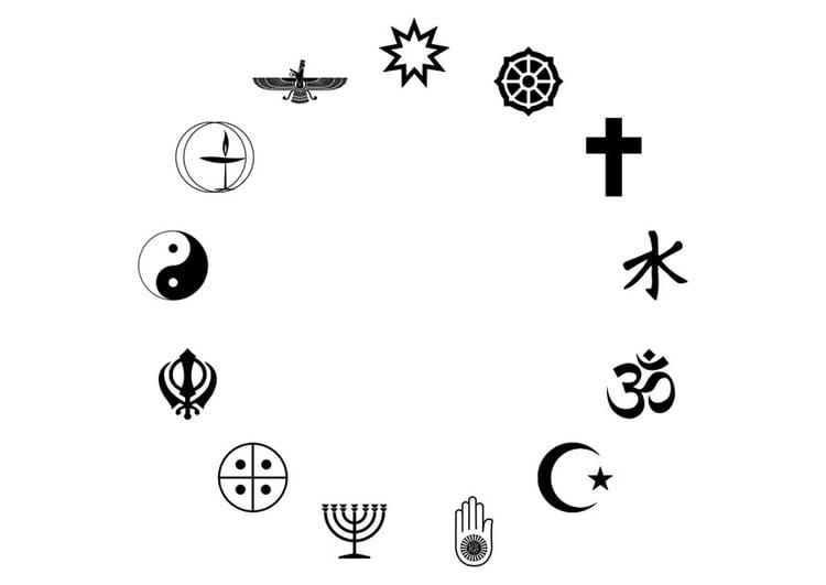 Dibujo Para Colorear Religiones Del Mundo Img 29807 Images