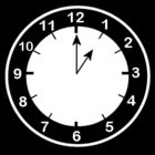 Dibujo para colorear Reloj a la 1
