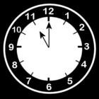 Dibujo para colorear Reloj a las 11