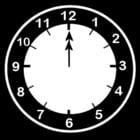 Dibujo para colorear Reloj a las 12