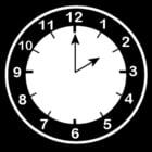 Dibujo para colorear Reloj a las 2