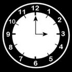 Dibujo para colorear Reloj a las 3